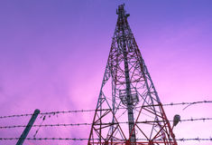 Cell phone signal station Royalty Free Stock Photo