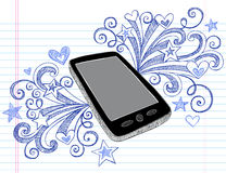 Cell Phone Sketchy Doodles PDA Vector Stock Photography