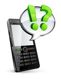 Cell phone and speech bubble Royalty Free Stock Image