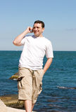 Cell phone talk Royalty Free Stock Photos