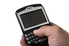 Cell phone textibg Stock Photos