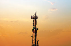 Cell phone tower - antenna Stock Photo