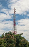 Cell phone tower. With blue sky Stock Images