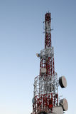Cell phone tower. On CAT building Royalty Free Stock Image
