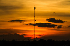 Cell phone tower royalty free stock photography