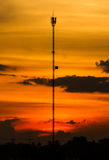 Cell phone tower royalty free stock images