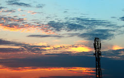 Cell phone tower Stock Image
