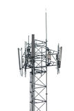 Cell phone tower on white background Royalty Free Stock Images