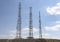 Cell phone towers Royalty Free Stock Photo