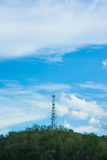 Cell phone towers at mountain Stock Image