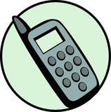 Cell phone vector illustration. Vector illustration of a cell phone Stock Photo
