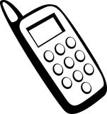Cell phone vector illustration Royalty Free Stock Photo