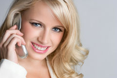 Cell Phone Woman Stock Photo