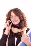 Cell Phone Woman Stock Photography