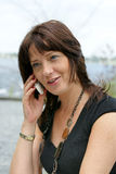 Cell phone woman stock photos