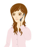 Cell Phone Women. This graphic is Office Women Royalty Free Stock Photo