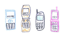 Cell phones stock image