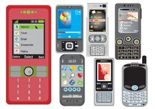 Cell phones Stock Photo