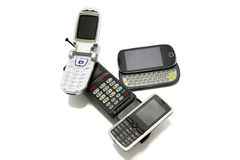 Cell phones evolution Royalty Free Stock Photos
