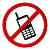 Cell phones not allowed Stock Images