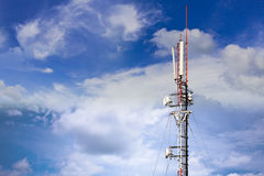 Cell site horrizontal view Stock Photo