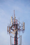 Cell site, Telecommunications radio tower. Stock Photography