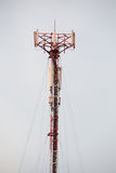 Cell site, Telecommunications radio tower. Royalty Free Stock Photography