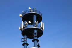 Cell site or cell tower Royalty Free Stock Photos