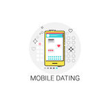 Cell Smart Phone Communicate Love Message Mobile Dating Sms Icon Stock Images