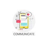 Cell Smart Phone Communicate Message Sms Icon. Vector Illustration Royalty Free Stock Image