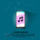 Cell Smart Phone Music Player Application Royalty Free Stock Photo