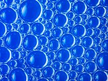 Cell structure abstract blue background Royalty Free Stock Photography