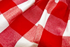 Cell textile texture. White and red cell textile texture royalty free stock images