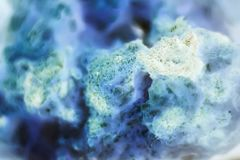 Cell tissue under a microscope, chemistry and biology background stock images