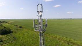 cell- torn Utrustning för att vidarebefordra den cell- och mobila signalen Arkivbild