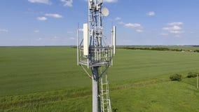 cell- torn Utrustning för att vidarebefordra den cell- och mobila signalen Fotografering för Bildbyråer