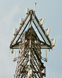 Cell tower. Radio communications and cellular phone tower stock image