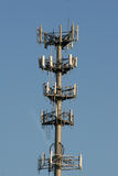 Cell Tower. Cellular tower against blue sky Stock Photography