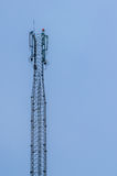 Cell tower. The cell tower on blue sky background Stock Images