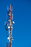 Cell tower and blue sky Stock Image
