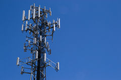 The cell tower. Royalty Free Stock Photo
