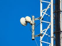 Cell tower details. Close ups of technology and electronics stock photography
