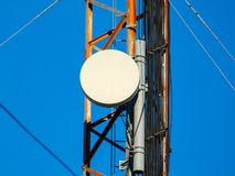 Cell tower details. Close ups of technology and electronics royalty free stock image