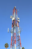 Cell tower. Image of a Cell tower in metro area Royalty Free Stock Image
