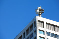 Cell tower and radio antenna Stock Image