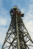 Cell tower shown to the top royalty free stock image
