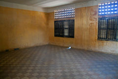 Cell in Tuol Sleng  (S21) Prison Stock Photography