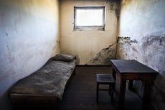 Cella di prigione nel campo di concentramento Immagini Stock