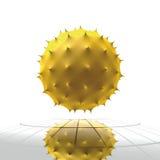 Cella gialla del virus Fotografia Stock Libera da Diritti