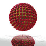 Cella rossa del virus Fotografie Stock